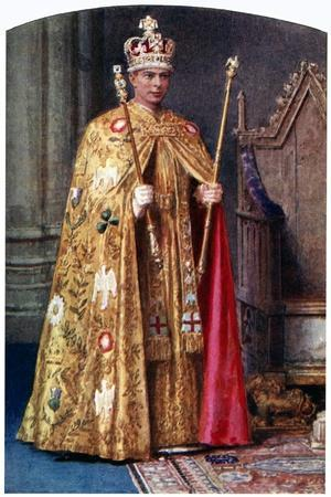 George VI in Coronation Robes: the Golden Imperial Mantle, with St Edward's Crown, 1937