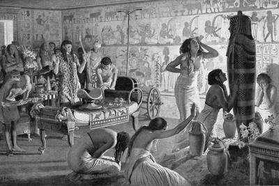 Scene of Mourning at the Funerary Temple of Tutankhamun, Egypt, 1325 BC (1933-193)
