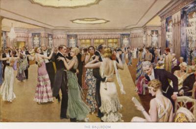 The Dorchester the Ballroom by Fortunio Matania