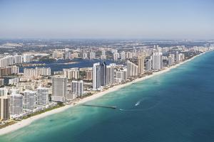 Usa, Florida, Miami Cityscape as Seen from Air by Fotog