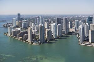 Usa, Florida, Miami Skyline as Seen from Air by Fotog