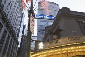 Usa, New York State, New York City, Low Angle View of 42Nd Street Name Sign with Met Life Building by Fotog