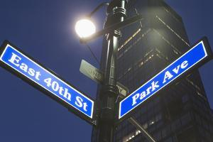 Usa, New York State, New York City, Low Angle View of Street Name Sign by Fotog