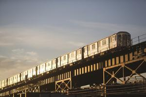 Usa, New York State, New York City, Low Angle View of Train by Fotog