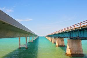 Bridges Going to Infinity. Seven Mile Bridge in Key West Florida by Fotomak
