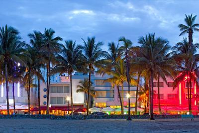 Miami Beach Florida at Sunset