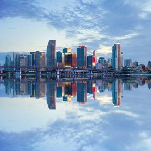 Miami Florida, USA Downtown Business Buildings by Fotomak