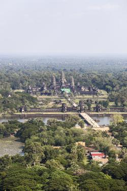Aerial View of Angkor Wat, Cambodia by fototrav