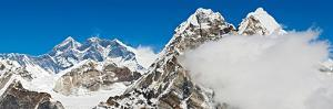 Mt Everest Snow Capped Summits Glacier Peaks Panorama Himalayas Nepal by fotoVoyager