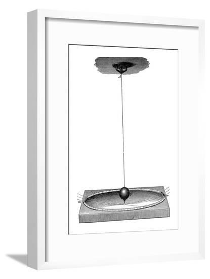 Foucault's Pendulum Which Demonstrated the Earth's Rotation and the Concept of Inertia, C1895--Framed Giclee Print