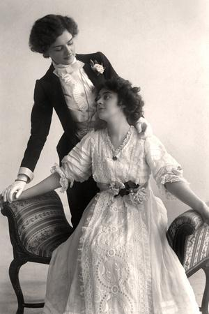 Lily Elsie (1886-196) and Adrienne Augarde (1882-191), English Actresses, 1907