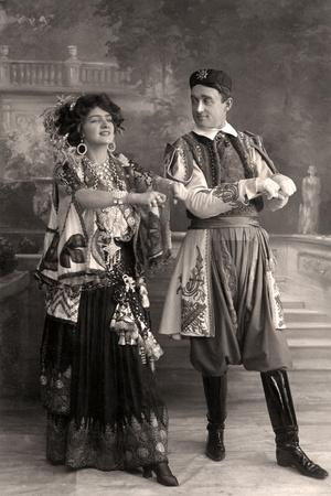 Lily Elsie and Joseph Coyne in the Merry Widow, 1908