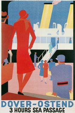 Belgian National Railway Poster, Channel Crossing by Found Image Holdings Inc