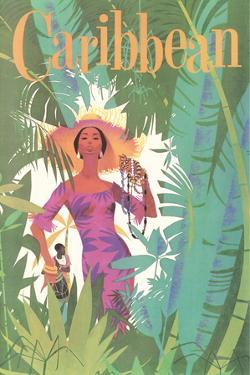 Caribbean Travel Poster by Found Image Holdings Inc