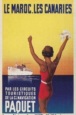 Cruising the East Atlantic, Travel Poster by Found Image Holdings Inc