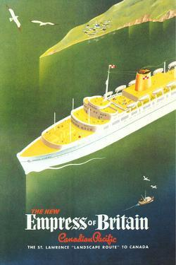 Empress of Britain Travel Poster by Found Image Holdings Inc