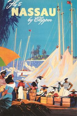 Fly to Nassau Poster by Found Image Holdings Inc