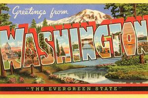 Greetings from Washington, the Evergreen State by Found Image Holdings Inc