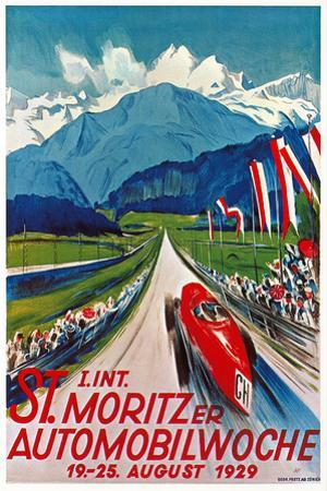 Poster for St. Moritz Car Show by Found Image Holdings Inc