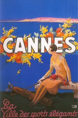 Travel Poster for Cannes by Found Image Holdings Inc
