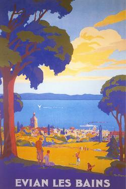 Travel Poster for Evian Les Bains by Found Image Holdings Inc