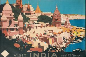 Travel Poster for India by Found Image Holdings Inc