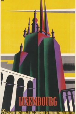 Travel Poster for Luxembourg by Found Image Holdings Inc