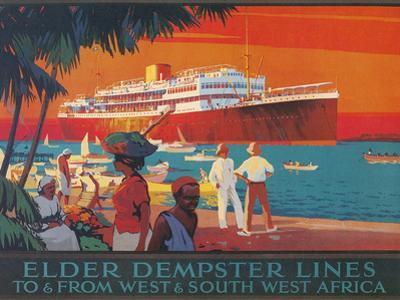 Travel Poster, West and Southwest Africa by Found Image Holdings Inc