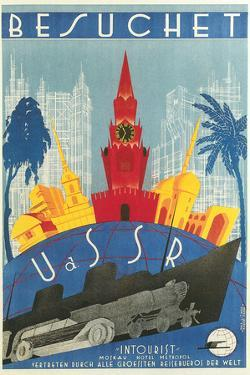 Visit the USSR Travel Poster by Found Image Holdings Inc