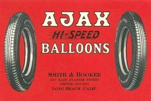 Ajax Hi-Speed Balloon Tires Advertisement by Found Image Press