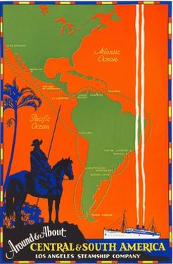 Around & about Central & South America Travel Poster by Found Image Press