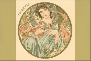 Art Nouveau Decembre by Found Image Press