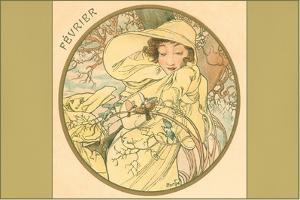 Art Nouveau Fevrier by Found Image Press