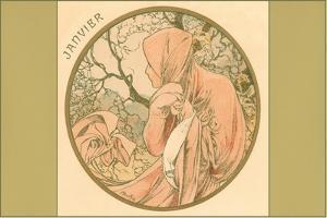 Art Nouveau Janvier by Found Image Press
