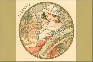 Art Nouveau Novembre by Found Image Press