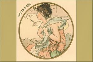 Art Nouveau Septembre by Found Image Press