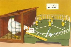 Baseball Playing Chicken by Found Image Press