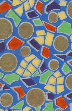 Brightly Colored Mosaic Pattern by Found Image Press