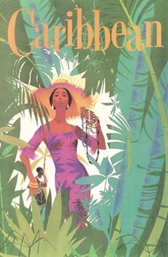 Caribbean Travel Poster by Found Image Press
