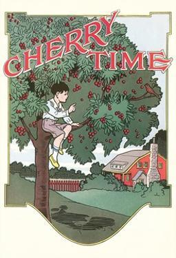 Cherry Time, Boy in Tree by Found Image Press