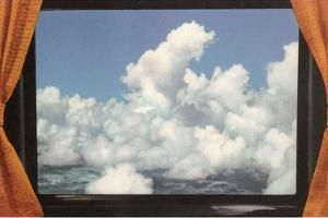 Clouds Framed by Curtains by Found Image Press