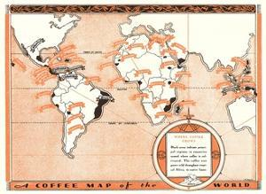 Coffee Map of the World by Found Image Press