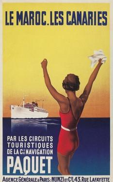 Cruising the East Atlantic, Travel Poster by Found Image Press