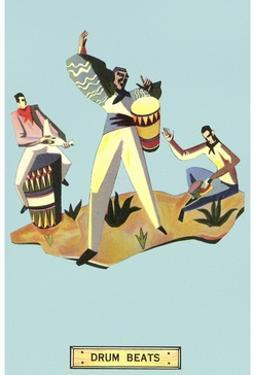 Drum Beats, Stylized Latin Drummers by Found Image Press
