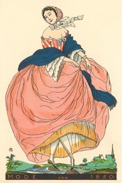 European Women's Fashion, 1850 by Found Image Press