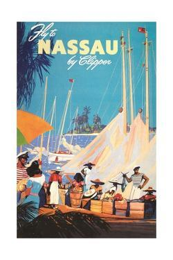 Fly to Nassau Poster by Found Image Press
