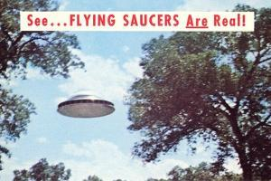 Flying Saucers are Real by Found Image Press