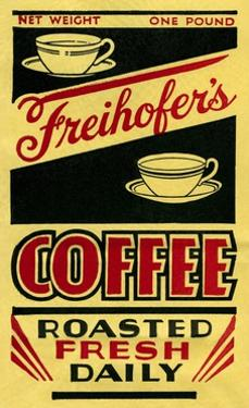 Freihofer's Coffee Label by Found Image Press
