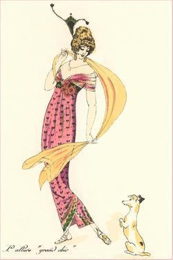 French Art Deco Fashion, Puppy by Found Image Press
