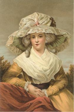 French Women's Fashion, Big Hat by Found Image Press